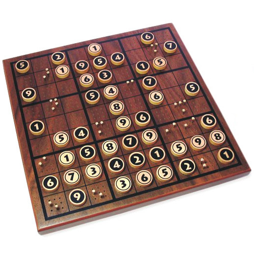 Wooden Sudoku Board Game