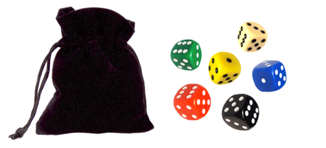 farkle dice and bag